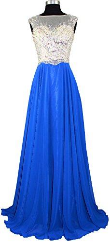 Meier Women's Long Beaded Bodice Prom Homecoming Formal Dress Royal Size 10