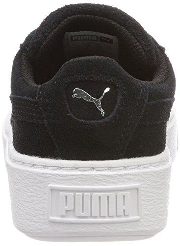Puma Suede Silver Basses Platform Sneakers Mixte Noir Black Glam puma Enfant Puma PS pprdwq