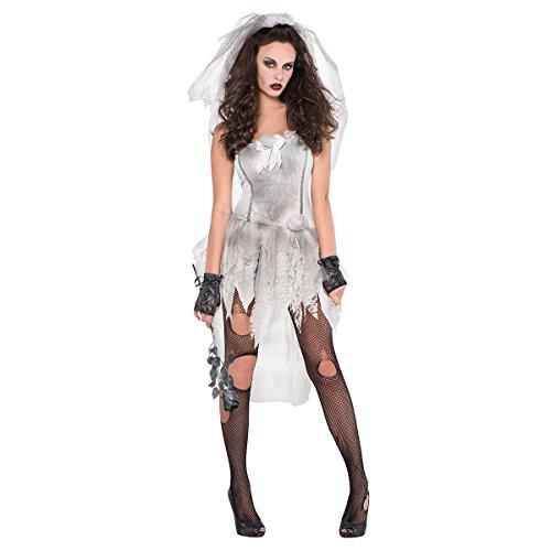 Bride Halloween Uk Dead Costumes (Drop Dead Gorgeous Costume - Large - Dress Size)