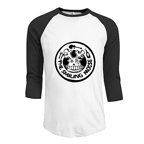 SAXON Men's Lovely New Moose Logo Raglan Tri-bend -