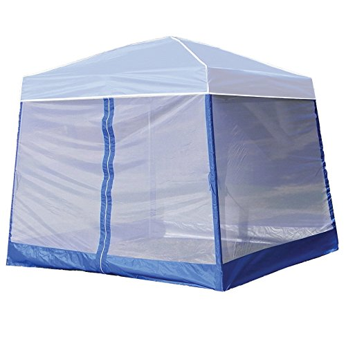 Z-Shade 10 Foot Angled Leg Screenroom Tent Camping Outdoor Patio Shelter, White by Z-Shade