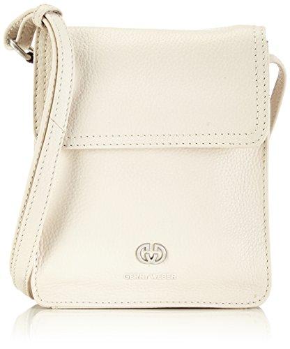 Gerry Weber Flap Bag XS - Bolso de hombro de cuero mujer blanco - Weiß (offwhite 101)
