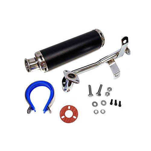 Complete Performance Exhaust System for GY6 50cc/80cc 4 Stroke Scooters with a 10