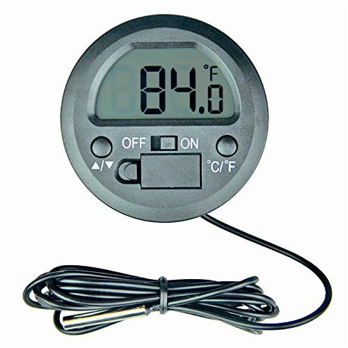 CargoTi Electronic Digital Thermometer, Digital Instant Read Thermometer Hygrometer with Probe for Vehicle Fish Tank Aquarium Incubators Brooders Climb Pet