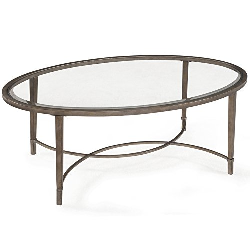 Magnussen Home Furnishings T2114 Copia Brushed Metal Oval Cocktail Table