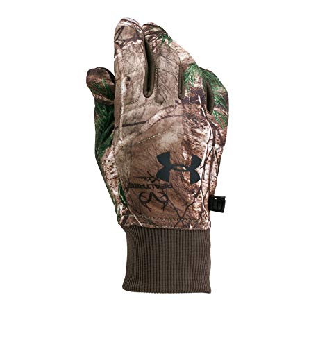 Under Armour Men's Scent Control Armour Fleece 2.0 Gloves, Realtree Ap-Xtra (946)/Black, - Armour Gloves Hunting Under