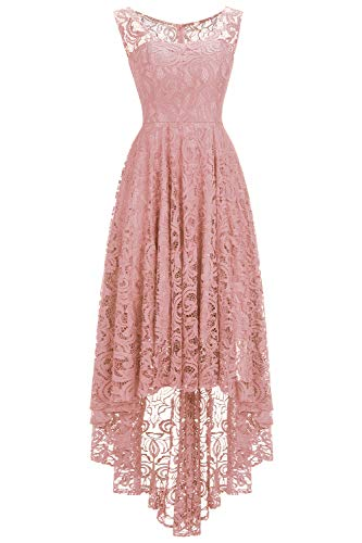 (Babyonlinedress Floral Lace Women Dresses for Special Occasions,NudePink,S)