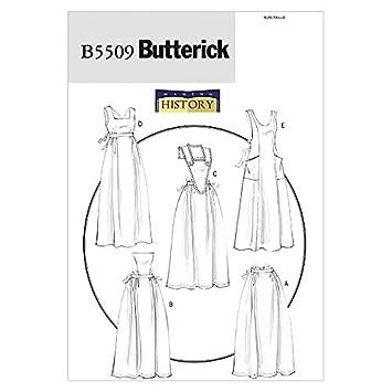 Butterick Schnittmuster 5509 – Historische Schürzen: Amazon.de ...