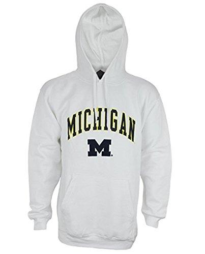 Outerstuff University of Michigan Wolverines NCAA Mens Fleece Hoodie, White