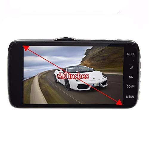 (Rear View Camera 4 Dual Lens Camera Full HD 170°1080P Car DVR Video Dash Cam Recorder G-Sensor Maoyou Black)