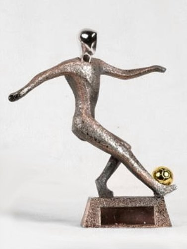 StealStreet BN85115C Large Nickel Alloy in Motion Soccer Player Statue