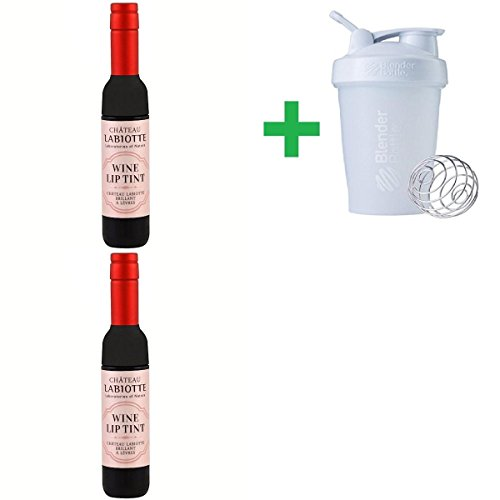 Chateau Labiotte, Wine Lip Tint, RD01 Shiraz Red, 7 g (2 Packs) + Assorted Sundesa, BlenderBottle, Classic With Loop, 20 (Shiraz Wine Food)
