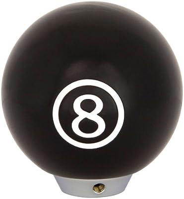 AutoStyle Pomo para en bolas de billar (Diseño 8 Ball, color negro ...