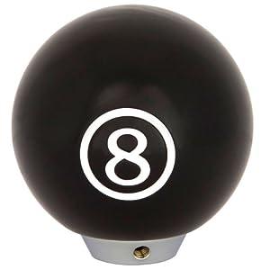 Autostyle Schaltknauf im Billardkugel-Design 8er Ball, Schwarz