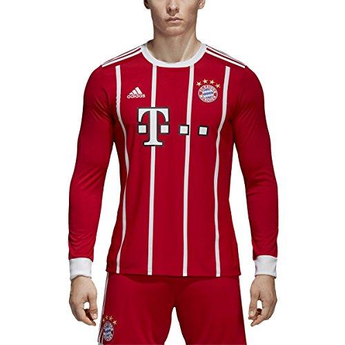 謎提案する倉庫Adidas FC Bayern Munich Home Long Sleeve Jersey [ FCBTRU ]