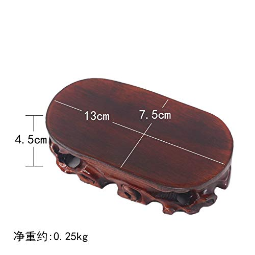 (THEAORNAMENTS Base Can Be Grooved Solid Wood Stone Buddha Statue Decoration Vase Bonsai Teapot Incense Burner Mahogany Bracket Home Decoration )