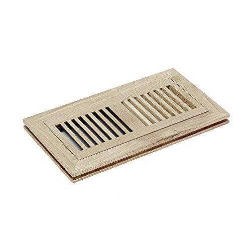 Welland 4x10 White Oak Wood Flush Mount Floor Register