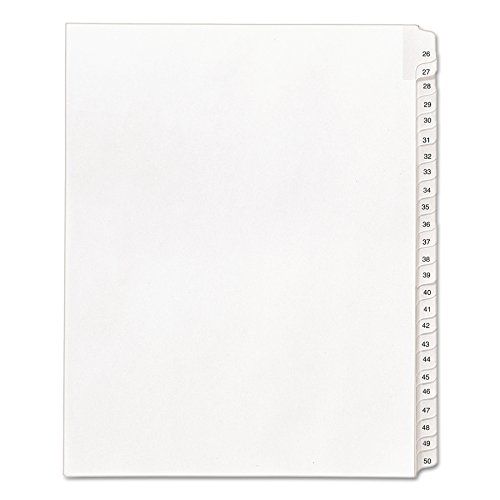 Avery Legal Dividers, Allstate Collated Sets, Letter Size, Side Tab, 26-50 Tab Set (01702) ()