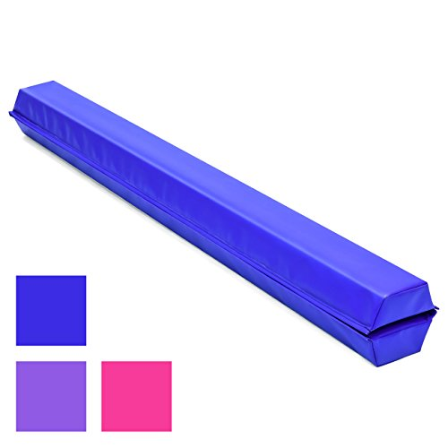 Best Choice Products 9ft Kids Full Size Folding Floor Balance Beam for Gymnastics and Tumbling w/Medium-Density Foam, 4in Wide Surface, Non-Slip Vinyl