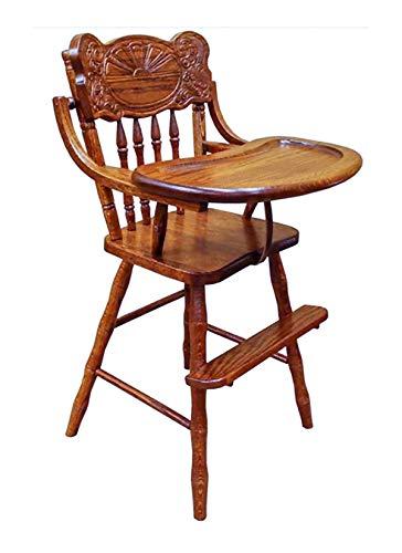 (Sunrise Amish Lift Tray High Chair Oak Hardwood (Boston)
