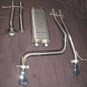 Bassani 600535 Cat Back Exhaust System for Ford - Cat Bassani Back Exhaust