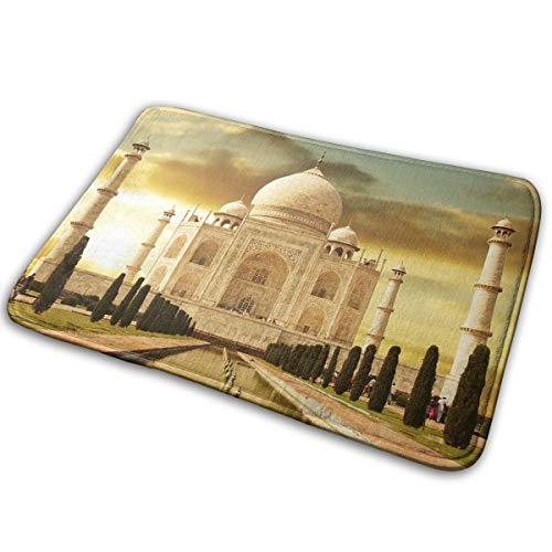 DENETRI DYERHOWARD Bath Mat Taj Mahal at Night Non Slip Bath Rug Washable Bathroom Soft Kitchen Floor Door ()