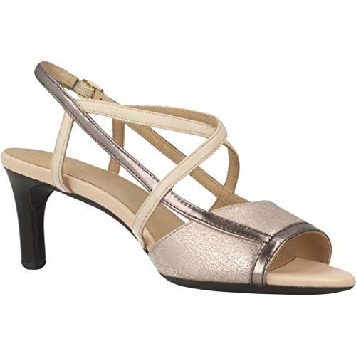 Geox Geox Mujer Vestir Color De Mujer Beige D Marca Para Sandalias Modelo c9ha5 Celeina Beige vgwAq0T