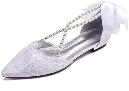 Lianyunneiyi Pointed Wedding Shoes For Women New Design Lace Low