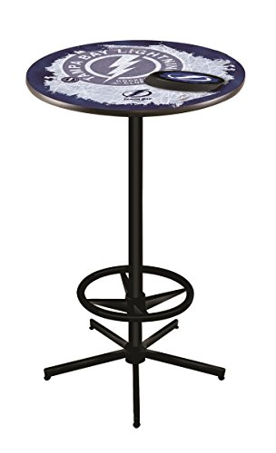 (Holland Bar Stool Co. NHL Tampa Bay Lightning Officially Licensed Pub Table, 36
