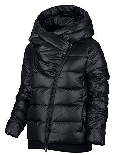NIKE Womens Sportswear Puffer Down Filled Jacket Coat (X-Small, Black)