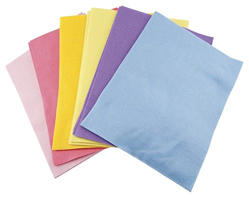 The New Image Group Classic Soft Felt 9x12 25/Pack: Pastel Colors
