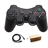 Kolopc Wireless Bluetooth Controller For PS3 Double Shock - Bundled with USB charge cord … (Black)