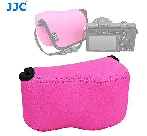 JJC Magenta Ultra Light Neoprene Camera Case for Sony a6500 a6400 a6300 a6000 a5100 w/ 16-50mm Lens, Case for Sony RX1 RX1R RX1R II, Panasonic LX100 LX100 II, Canon X420IS SX510 HS G1X III