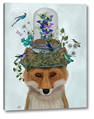 Fox with Butterfly Bell Jar by Fab Funky - 9