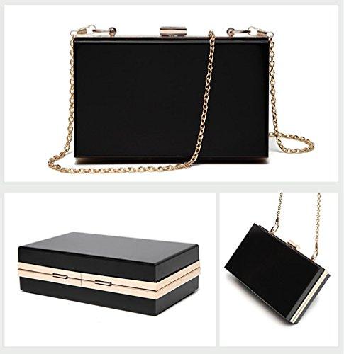 Clutch Handbag Evening Shoulder Black Women Body Purse Bag Acrylic Marchome Cross IatwHnqt