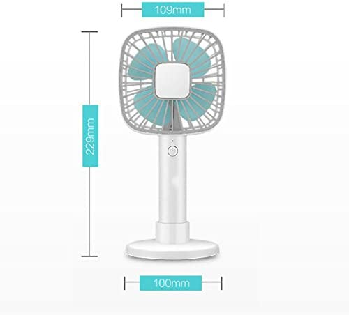 YAXIAO Ventilatore dormitorio/Ventilatore Esterno Caricatore del Desktop di USB del Mini Portatile tenuto in Mano Fan