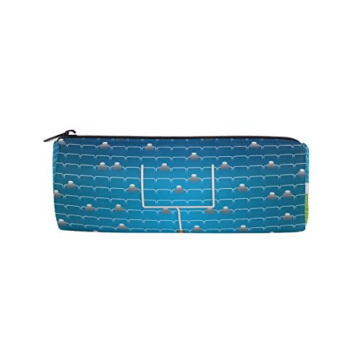 American Football Stadium Pencil Case Pen Bag Multi-Functional Stationery Pouch Zipper Bag by imobaby, Student Zip Pencil Holders Pouch Gift Travel Makeup Bag,Multi270