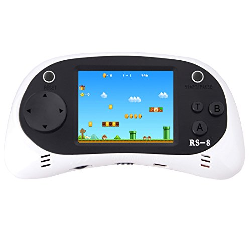 ZHISHAN Handheld Game Console for Children Built in 260 Classic Old Video Games Retro Arcade Gaming Player Portable Playstation Boy Birthday 8 Bit Rechargeable - 100 Handheld Games