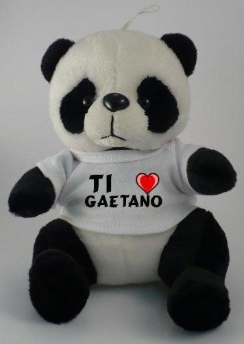 Con Shirt Testo Shopzeus Ti Panda Gaetano In Il Peluche T Amo RLc35Sjq4A