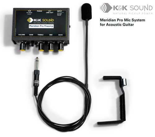 K&K Sound Meridian PRO External Guitar Microphone System w/Preamp