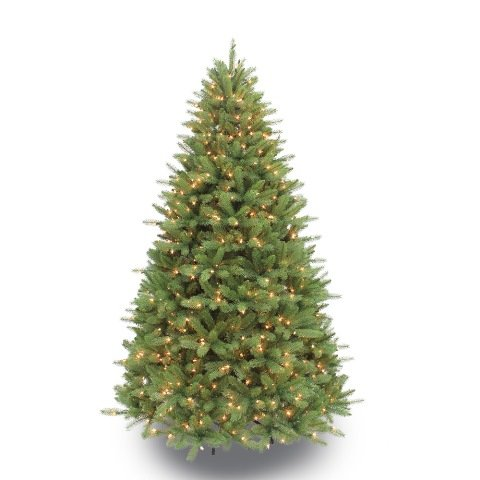 Puleo International 7.5-Foot Pre-Lit Douglas Fir Artificial Tree with 800 Clear UL listed Lights