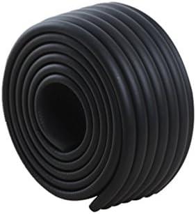 Lvguang W Forme Rouleau en Mousse Anti Choc Protecteurs Bords de Table Super Souple et Flexible Sécurité épreuvage pour Bébé et Enfants (Noir,2000mm*80mm*8mm)