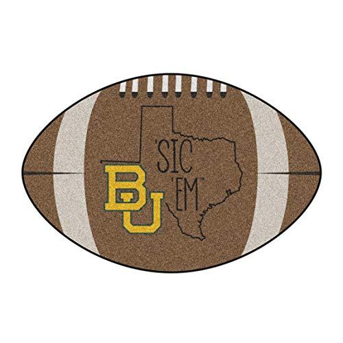 - NCAA Baylor University Bears Football Shaped Mat Area Rug