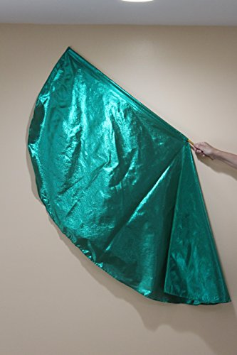 Angel Wing Flag Emerald Green/Praise Dance Worship Flags/Banners of Worship,Inc/PROPHETIC Dance Worship Flags