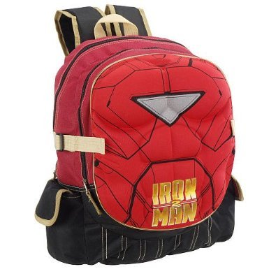 - Iron Man 2 16 Inch Backpack with Padded Chest Plate Red