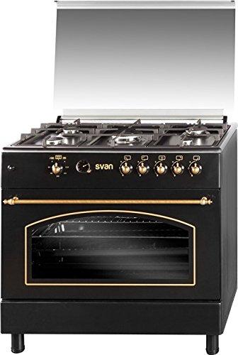 SVAN SVK9561FN Range cooker Encimera de gas Negro - Cocina (Range ...