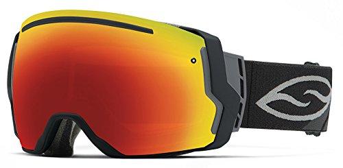 Smith Optics I/O7 Vaporator Series Snocross Snowmobile Goggles Eyewear - Black/Red SOL-X/Blue Sensor / Medium