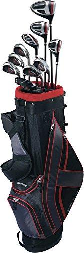 Top-Flite Golf Men's XL 13 Piece Complete Box Bag Set Right Hand Black Red (Right, Graphite, Men's) (Flite Drivers Top)