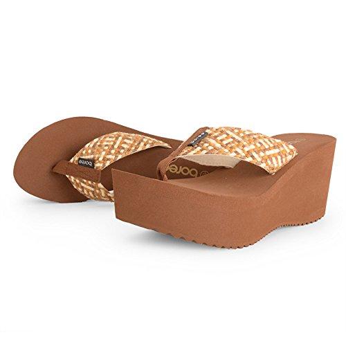 Sandalias de verano de tacones altos sandalias de desgaste exterior de la mujer ( Color : 2 , Tamaño : EU38/UK5.5/CN38 ) 1