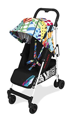 Maclaren Quest arc Jason Woodside Stroller- for Newborns+, Lightweight, Compact, Full Featured. Easy to Steer, fold, Carry. Extended Hood, Reclining seat, 4 Wheel Suspension. Accessories Included.